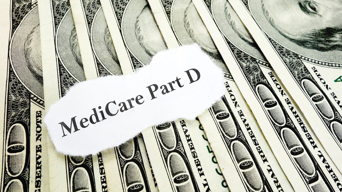 Newspaper Medicare Part D headline on money