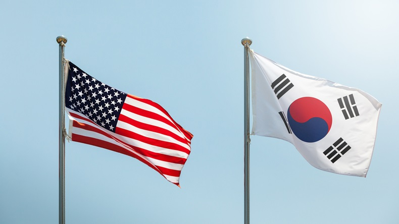 US/South Korea flags
