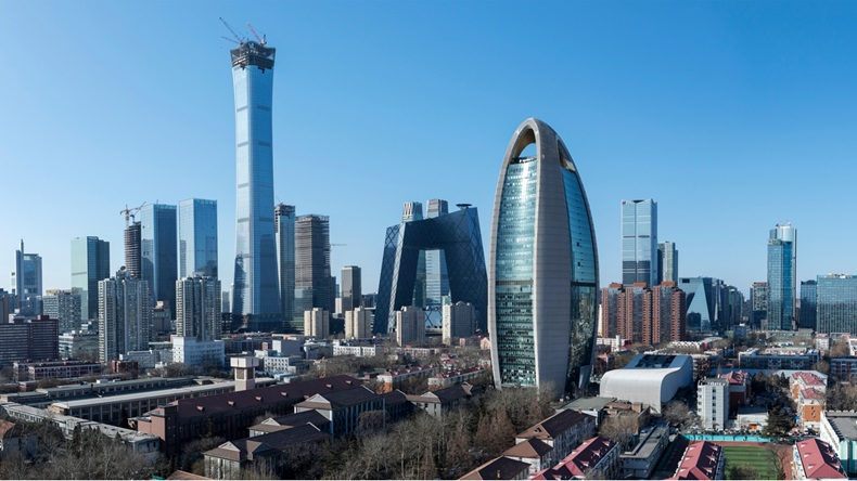 In February 6, 2018 the city of Beijing international high China scenery - Image
