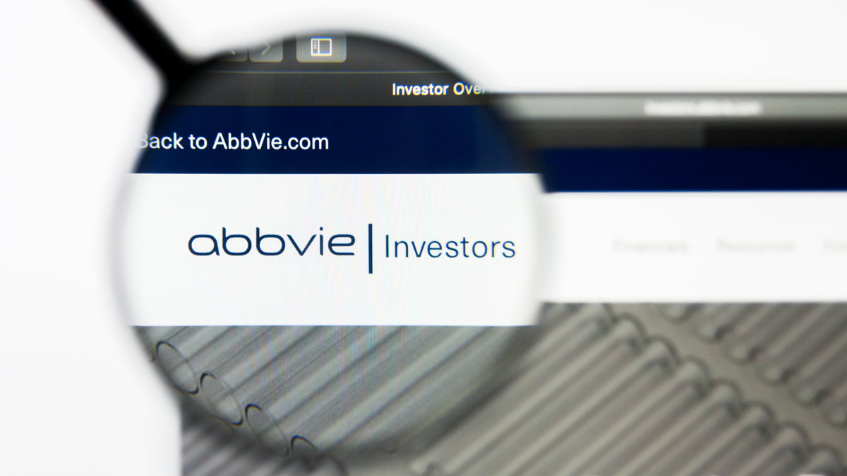 Richmond, Virginia, USA - 8 May 2019: Illustrative Editorial of AbbVie Inc website homepage. AbbVie Inc logo visible on display screen. - Image