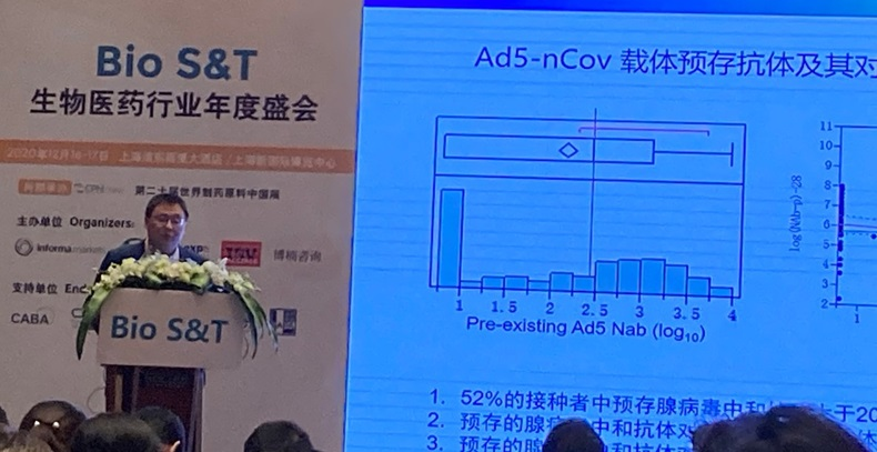 CANSINO'S TAO ZHU DISCUSSES ITS COVID VACCINE PROGESS, DEC 16,2020