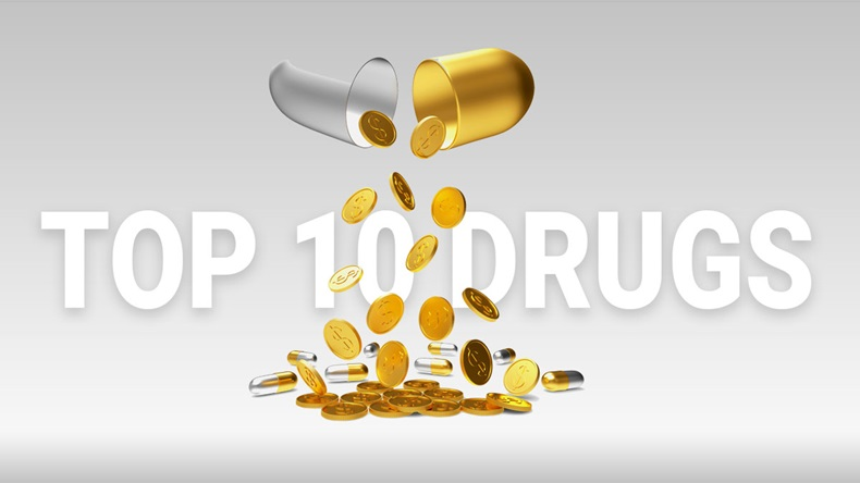Top 10 Drugs, pills and dollar
