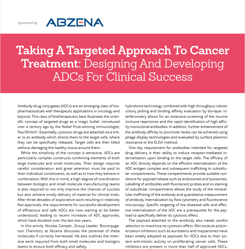 Taking a Targeted Approach To Cancer Treatment: Designing And Developing ADCs For Clinical Success