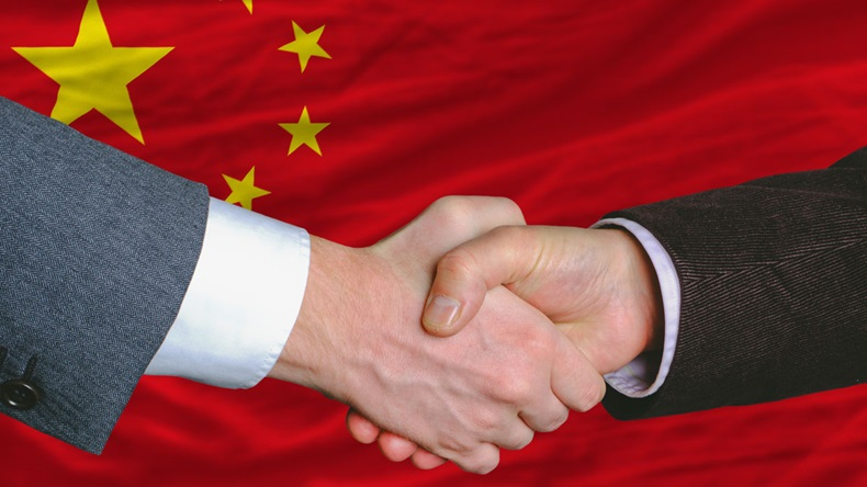 China handshake