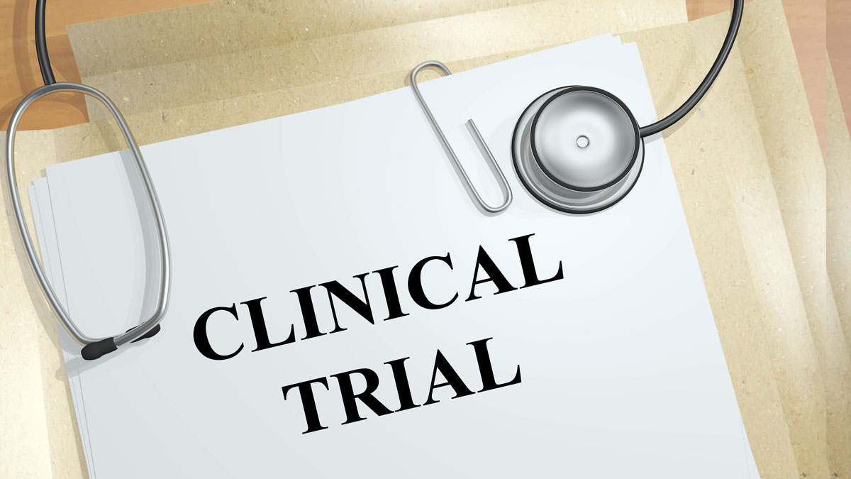 Render illustration of Clinical Trial title on medical documents