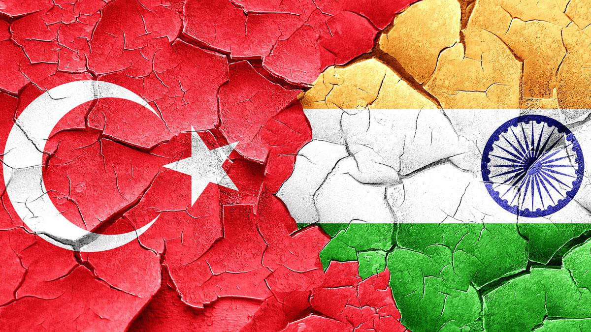 Turkey & India flags